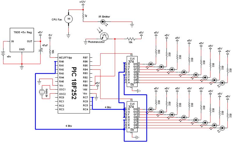 Схема вентилятор часы